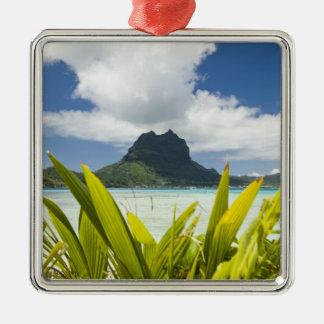 Visit to small picnic island in lagoon at Bora Metal Ornament