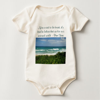 visit to the beach infant onsie creeper