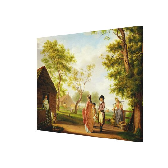 Visit to the Country Dairy Canvas Print