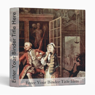 Visit To The Quack  By Hogarth William 3 Ring Binder