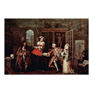 Visit To The Quack  By Hogarth William Posters