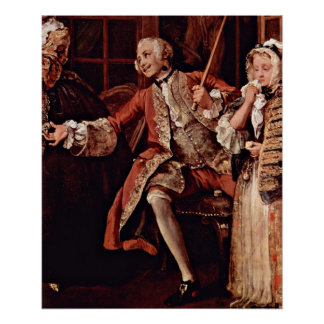 Visit to the quack Detail by William Hogarth Poster