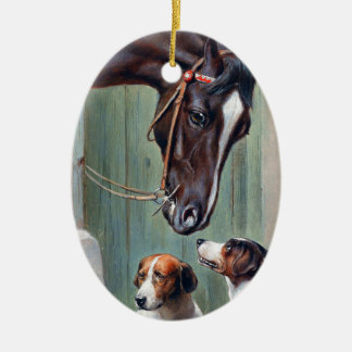 Visit to the Stables by Carl Reichert Ceramic Ornament
