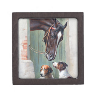 Visit to the Stables by Carl Reichert Jewelry Box