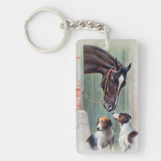 Visit to the Stables by Carl Reichert Keychain