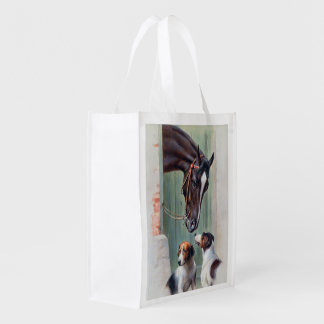 Visit to the Stables by Carl Reichert Market Totes