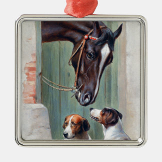 Visit to the Stables by Carl Reichert Metal Ornament