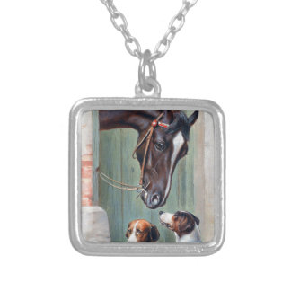 Visit to the Stables by Carl Reichert Silver Plated Necklace