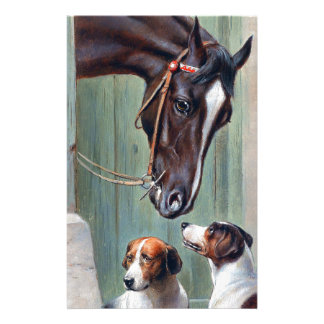 Visit to the Stables by Carl Reichert Stationery