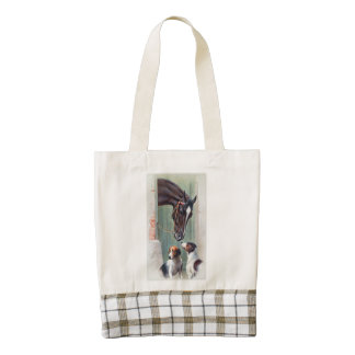 Visit to the Stables by Carl Reichert Zazzle HEART Tote Bag