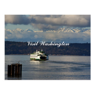 Visit Washington post card