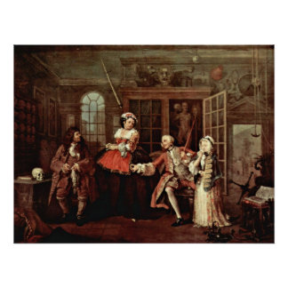 Visit with the Quack Doctor by William Hogarth Print
