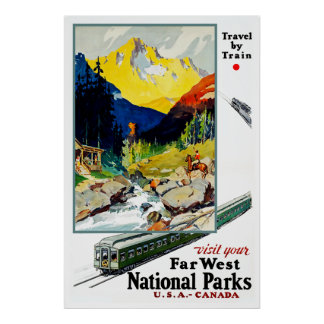 Visit Your Far West National Parks Poster