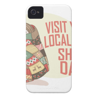 Visit Your Local Quilt Shop Day - Appreciation Day iPhone 4 Case