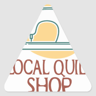 Visit Your Local Quilt Shop Day - Appreciation Day Triangle Sticker