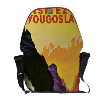 Visit Yugoslavia Vintage Travel Ad Messenger Bag