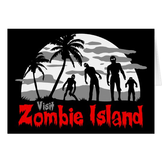 Visit Zombie Island Card