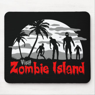 Visit Zombie Island Mouse Pads