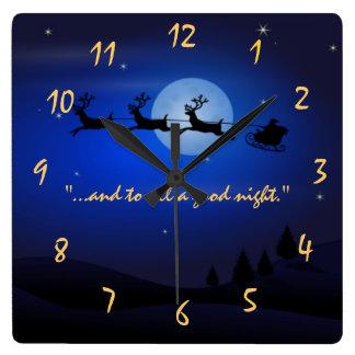 visita a partir de la noche de San Nicolás antes Reloj Cuadrado