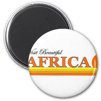 Visita África hermosa Imán Redondo 5 Cm