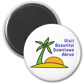 Visita Akron céntrica hermosa Imán Redondo 5 Cm