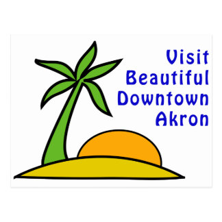 Visita Akron céntrica hermosa Tarjetas Postales