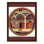 Visita al cuarto de niños Tondo por Masaccio (el m Postal