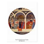 Visita al cuarto de niños Tondo por Masaccio Postal