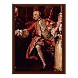 """Visita al detalle del curandero """"por Hogarth Postal"""