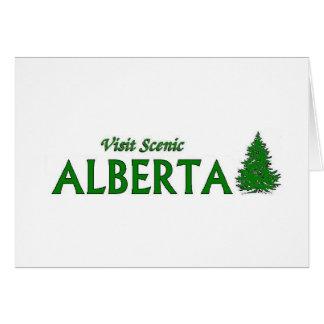 Visita Alberta escénica Tarjeta De Felicitación
