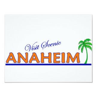 "Visita Anaheim escénico, California Invitación 4.25"" X 5.5"""