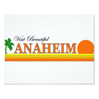 """Visita Anaheim hermoso, California Invitación 4.25"""" X 5.5"""""""
