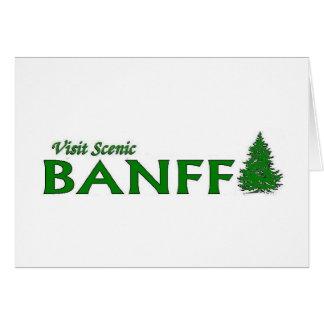 Visita Banff escénico Tarjeta De Felicitación