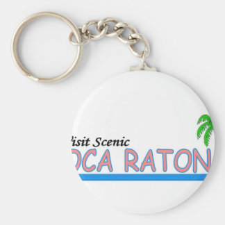 Visita Boca Raton escénico Llavero Redondo Tipo Pin