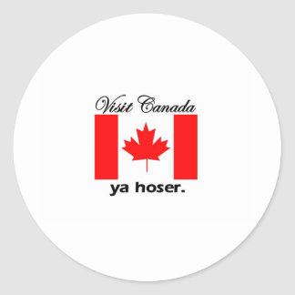 Visita Canadá Ya Hoser Etiquetas Redondas