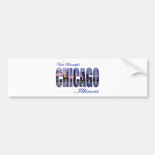 Visita Chicago hermosa, Illinois Pegatina Para Auto