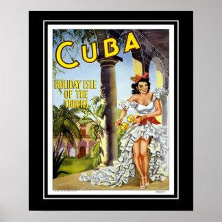 Visita Cuba del viaje de los posters del vintage d Póster
