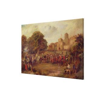 Visita de James I a la torre de Houghton Impresiones En Lienzo Estiradas