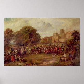 Visita de James I a la torre de Houghton Póster