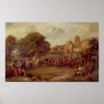 Visita de James I a la torre de Houghton Posters