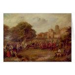 Visita de James I a la torre de Houghton Tarjeta De Felicitación