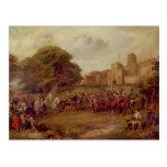 Visita de James I a la torre de Houghton Tarjeta Postal