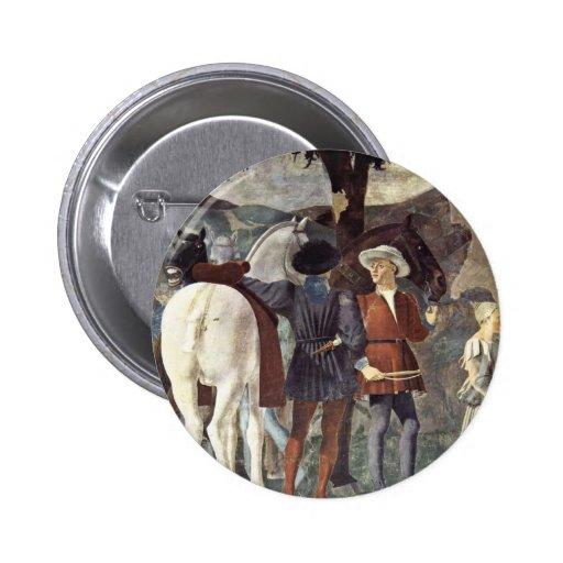 Visita de la reina de Sheba con Solomon. Pins