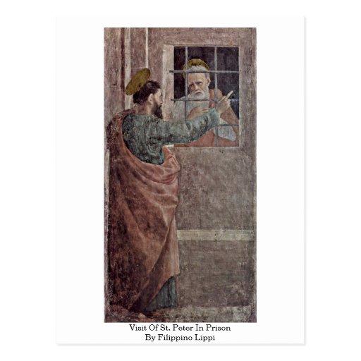 Visita de San Pedro en la prisión de Filippino Lip Tarjeta Postal
