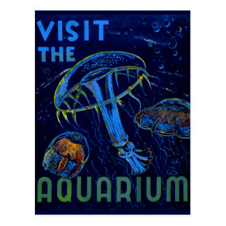 Visita de WPA del vintage el poster del acuario Postales