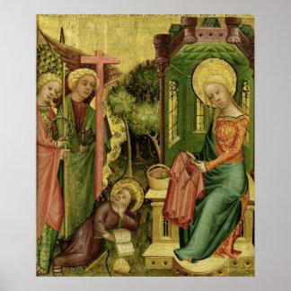 Visita del ángel, la derecha póster