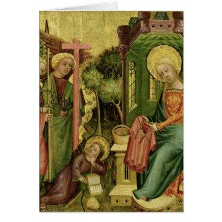 Visita del ángel, la derecha tarjeta de felicitación