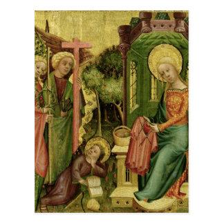 Visita del ángel, la derecha tarjeta postal