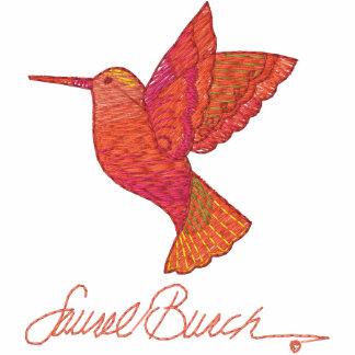 Visita del colibrí encapuchada bordada