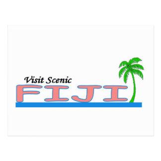 Visita Fiji escénica Tarjeta Postal